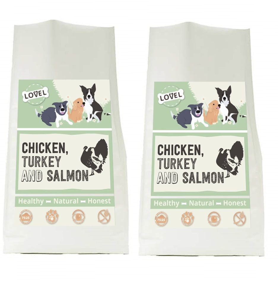 Lovel Chicken, Turkey & Salmon 2 x 12kg